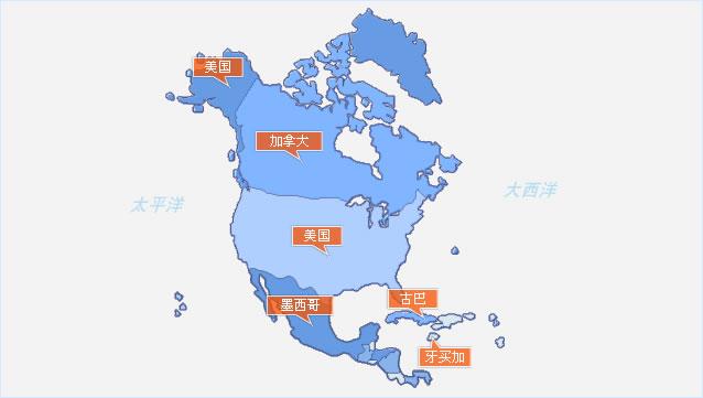 大洋洲地图